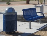 Webcoat Wingline Bench and Trash Receptacle