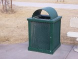 an -Premier Trash Receptacle
